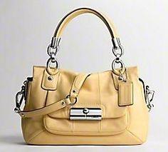 Adrianna Handbag Boutique: COACH Kristin Leather Satchel (Yellow)