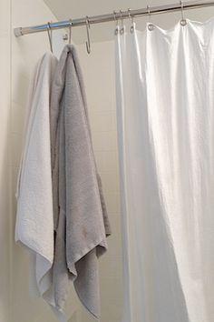 pot hooks used as bathroom towel hooks 'the improvised life' Hang Towels In Bathroom, Bathroom Storage, Downstairs Bathroom, Bathroom Faucets, Modern Bathrooms Interior, Bathroom Interior Design, Pot Hooks, Space Saving Bathroom, Diy Home