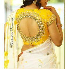 Blouse Designs High Neck, Silk Saree Blouse Designs, Fancy Blouse Designs, Bridal Blouse Designs, Lehenga Designs, Traditional Blouse Designs, Mirror Work Blouse Design, Sari Design, Stylish Blouse Design