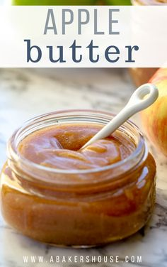 Slow cooker apple butter is so easy to make. Apple and sugar slowly cook together with spices in the crock pot, slow cooker, or instant pot. Sugar Free Apple Butter Recipe, Homemade Apple Butter, Apple Pie Jam, Apple Spice Cake, Apple Sauce, Jelly Recipes, Apple Recipes, Sweet Recipes, Sauce Recipes