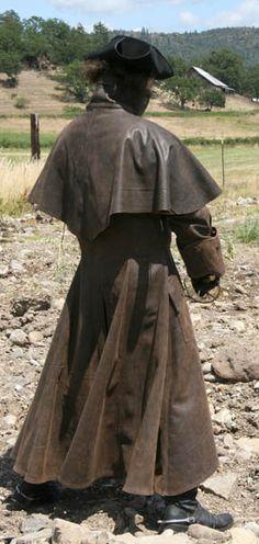 Surcoat Highwayman Leather Coat Trenchcoat