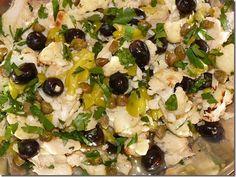 Seafood salad italian christmas eve 47 New Ideas Cod Recipes, Fish Recipes, Seafood Recipes, Salad Recipes, Cooking Recipes, What's Cooking, Meat Recipes, Snack Recipes, Seafood