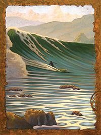Matt Beard- Shoebox Series I love his style of painting water particularly the calm areas. Ocean Art, Ocean Waves, Surfboard Art, Surfing Pictures, Tattoo Mermaid, Mermaid Mermaid, Vintage Mermaid, Mermaid Tails, Surf City