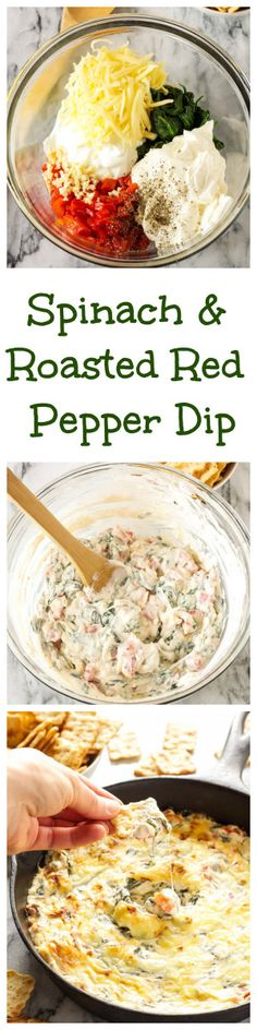 Spinach and Roasted Red Pepper Dip | This creamy and cheesy dip is the perfect appetizer for parties and holiday entertaining! @target #WaysToWow #ad | www.reciperunner.com