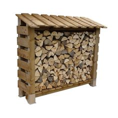 Buy a Topstak TS 190 Outdoor Log Store - Single Depth from Robeys. This log store will hold approximately 1 cubic metre of 14 Logs. Now available online from Robeys, Belper. Outdoor Firewood Rack, Firewood Shed, Firewood Storage, Log Store, Bois Diy, Wood Working For Beginners, Wood Projects, Woodworking Projects, Garage Storage