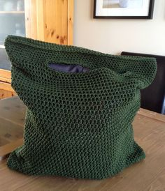 COTTON Mercerized TOTE Bag ZaKnit Crocheted Market Bag by ZaKnit