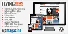 Buy FlyingNews - Responsive Magazine Theme by jawtemplates on ThemeForest. Magazine Flying News – Masonry Responsive Wordpress Theme FLYING News Magazine a Retina-ready and fully responsive Ma.