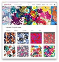 The future of buying and selling textile designs is online so we're showing our latest exclusive Spring/Summer 2017 collection online. We've created 4 unique trend stories from our recent trip to Premiere Vision New York where we exhibited last month: Graphic Flora S/S 17 Seasonal Trend Story