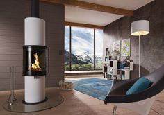 Wood heating stove / contemporary / steel CERA DESIGN : FARO MAISONFIRE