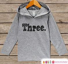 Kids Birthday Shirt - Three Shirt - 3rd Birthday #clothing #children #hoodie @EtsyMktgTool #birthdayshirt #birthdayhoodie #birthdayoutfit