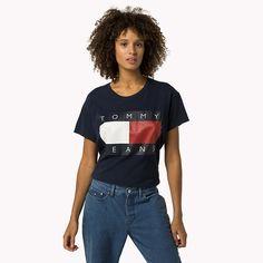 Tommy Hilfiger T-shirt Cropped Avec Logo - peacoat (Vert) - Tommy Hilfiger T-Shirts - image secondaire 0