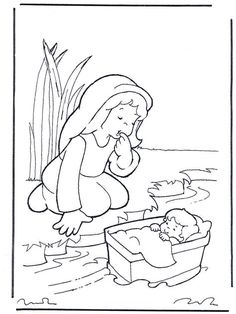 Miriam and Moses, Bible coloring pages / Old Testament / Miriyam v' Moshe Preschool Bible Lessons, Bible Activities For Kids, Sunday School Activities, Sunday School Lessons, Sunday School Crafts, Bible For Kids, Bible Stories For Kids, Catholic Kids, Kids Church