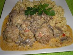 Meat Recipes, Recipies, Hungarian Recipes, Pork Dishes, Bacon, Food And Drink, Beef, Favorite Recipes, Chicken