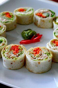 Cocina y Gastronomía   Wrap estilo sushi