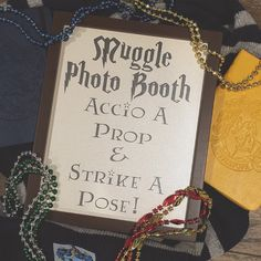 New Harry Potter Photo Booth Sign!  Perfect for any Harry Potter themed event: weddings, bridal showers, birthday parties, engagement parties!  For muggles, witches, and wizards alike.  Printable instant download.
