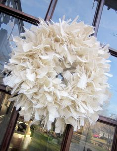 burlap wreath making my mom one of these for christmas...only with 2 darker shades of brown & add a lil something to it :)