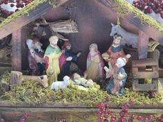 Vintage Christmas nativity scene / Christmas by cgraceandcompany