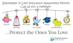 September is Life Insurance Awareness Month-You are never too young to have life insurance. Plan for a child's future and give them the opportunity to have guaranteed insurability and the policy can be used as a way to build cash value, too #lifeinsurance