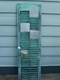 Window shutter mail organiser