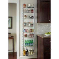 For the Home ClosetMaid 8 Tier Adjustable Cabinet Door Organizer Kitchen Organization, Kitchen Storage, Storage Spaces, Pantry Storage, Pantry Diy, Storage Organization, Kitchen Pantry, Kitchen Cabinets, Wall Pantry