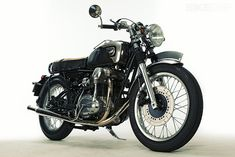 The Japanese custom builder Motor Rock has taken Kawasaki's W650 back in time, giving it a flavor of vintage Brough and Vincent motorcycles. Super classy.