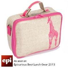 Pink Giraffe Lunchbox