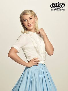 Julianne Hough 70S style for Grease Live cast Photoshoot
