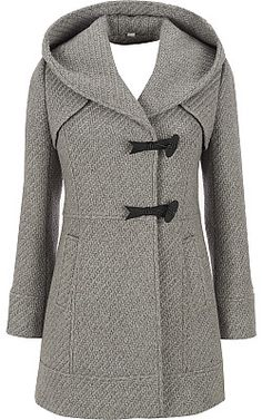This will be my new fall coat...Jessica Simpson Tweed Hooded Coat - Wilsons Leather