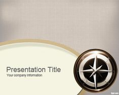 GPS PowerPoint template with a navigation instrument in the master slide