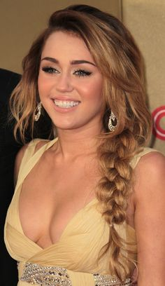 Miley Cyrus in Roberto Cavalli.. Miley in long hair short hair rocker or girlie I love very style she has .gorg.