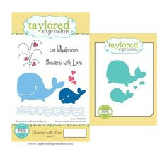 Taylored Expressions - Cling Stamp and Die Set - Showered with Love at Scrapbook.com
