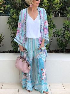 Product: Women's Fashion Printed Casual SuitSKU: XWJWU0256Gender: WomenDecoration: CasualMaterial:Polyester/CottonOccasion:DailyStyle:Casual/FashionTheme: Summer; FallColor: BlueSize: S; M; L;... Suit Fashion, Fashion Prints, Daily Fashion, Womens Fashion, Beach Fashion, Curvy Fashion, Fashion Clothes, Fashion Outfits, Casual Suit