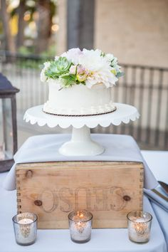 Rustic chic cake table: http://www.stylemepretty.com/california-weddings/santa-barbara/2016/04/22/this-rustic-chic-wedding-isnt-just-pretty-its-a-party/ | Photography: Michael + Anna Costa - http://michaelandannacosta.com/
