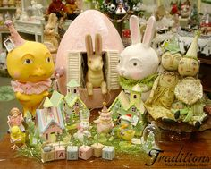 Another Easter table display featuring decor by Debra Schoch, Bethany Lowe, and Kim Kohler!