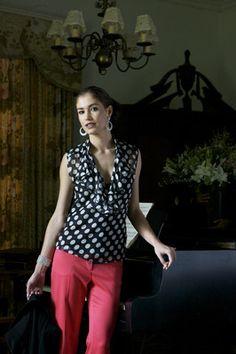 Schnittmuster: Chiffon-Bluse - ärmellos und feminin - Blusen - Blusen & Tuniken - Damen - burda style