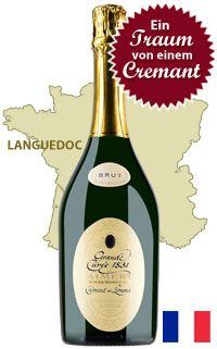 Unser Tipp: Sieur d'Arques «Grande Cuvée 1531 de Aimery» Crémant Brut de Limoux - http://weinblog.belvini.de/sieur-d-arques-grande-cuvee-1531