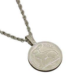 Lucky Rabbit Irish Coin Necklace