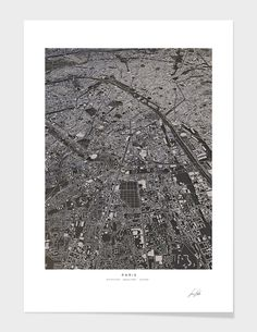 """Paris city map"", Numbered Edition Fine Art Print by Luis Dilger - From $42.00 - Curioos"