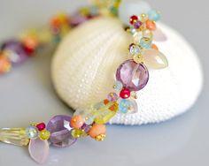 Tropical Multi Gemstone Bracelet  14k Gold Filled by emarcidorchid,
