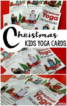 Kids Yoga cards with a Christmas theme. Pose like a star, Christmas Tree or Ho, Ho, Ho Breathing. An awesome activity for the classroom for Christmas! Fine Motor Activities For Kids, Movement Activities, Christmas Activities For Kids, Preschool Christmas, Christmas Games, Counseling Activities, Therapy Activities, Preschool Activities, Preschool Lessons