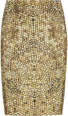 Alexander McQueen Honeycombjacquard Pencil Skirt - Lyst