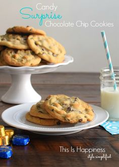 Candy Surprise Cookies | the gooey surprise in the middle is amazing!