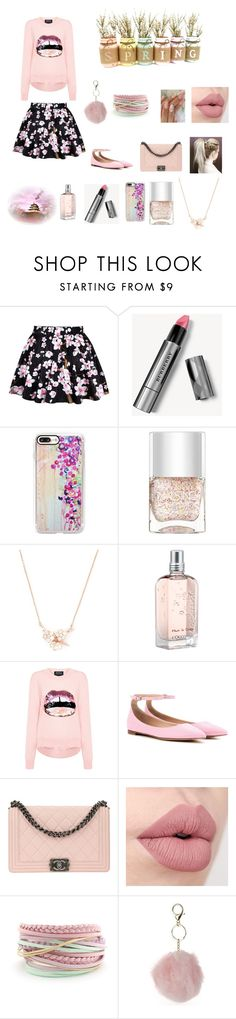 """""""Pastel"""" by queenshaima on Polyvore featuring Burberry, Casetify, Nails Inc., Shaun Leane, L'Occitane, Markus Lupfer, Gianvito Rossi, Chanel and Dorothy Perkins"""