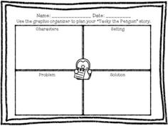 Tacky the Penguin graphic organizer, writing activity, and craft! Perfect for a kindergarten or first grade unit on the hilarious Tacky the Penguin books by Helen Lester!