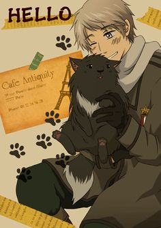 Russia and the Cat by イチ- Hetalia - Russia / Ivan Braginski