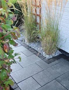Garden Ideas Driveway, Driveway Landscaping, Garden Paths, Brick Pathway, Patio Tiles, Outdoor Living Rooms, Garden Design, Gardens, Beach Cottages