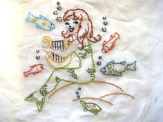 Aunt Martha's Embroidery Mermaid