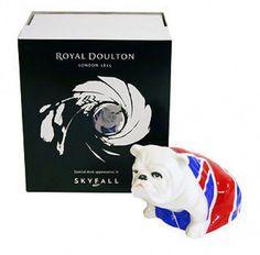Royal Doulton Bulldog  JACK  - James Bond Skyfall 007 Free worldwide shipping