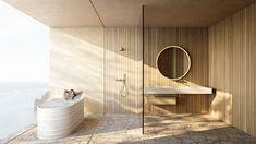 Studio MK27 | Marcio Kogan Studio Mk27, Peninsula Hotel, Bathtub, Interior Design, Mirror, Architecture, Building, House, Furniture