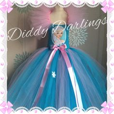 Elsa Tutu Dress. Frozen Tutu Dress. Pink and Blue Tutu Dress. Beautiful & lovingly handmade.  Price varies on size, starting from £25.  Please message us for more info.  Find us on Facebook www.facebook.com/DiddyDarlings1 or our website www.diddydarlings.co.uk